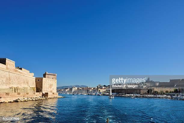 Fort Saintjean Vieux port Marseille Provencealpescote D'azur France