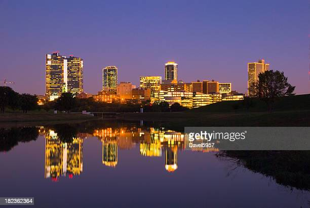 Fort Worth downtown skyline at dusk