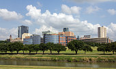 Picture shows the skyline of the city Fort Worth in Texas, USA