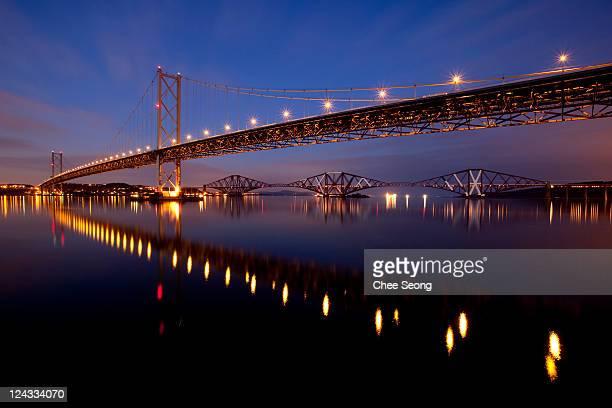Forth bridge and forth road bridge