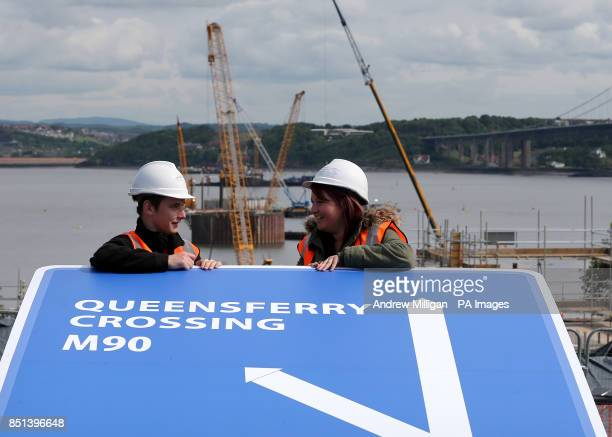 Forth Bridge workers Michael Gray and Laura Moffat after First Minister Alex Salmond unveied the name for the new bridge being built over the Firth...