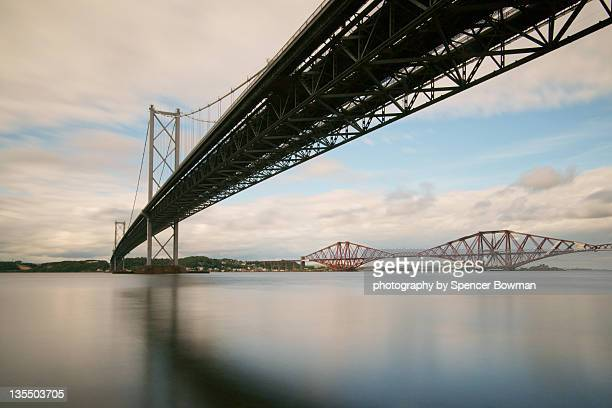 Forth bridges with river perspective