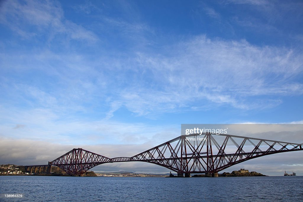 Forth Rail Bridge across the Firth of Forth : Stock Photo