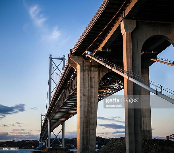 Forth Road Bridge from Below