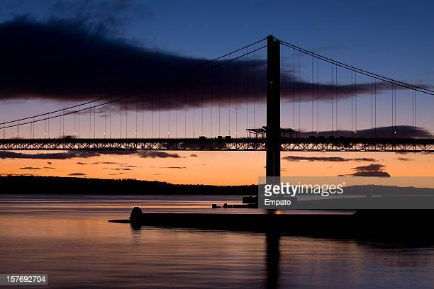 Forth Road Bridge Silhouette, from North Queensferry.