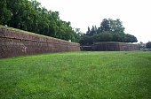 The walls that provided fortifications for Lucca