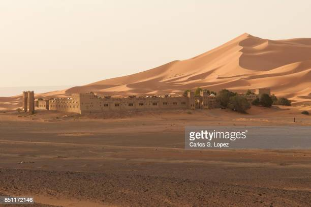Fortified palace in the middle of the desert