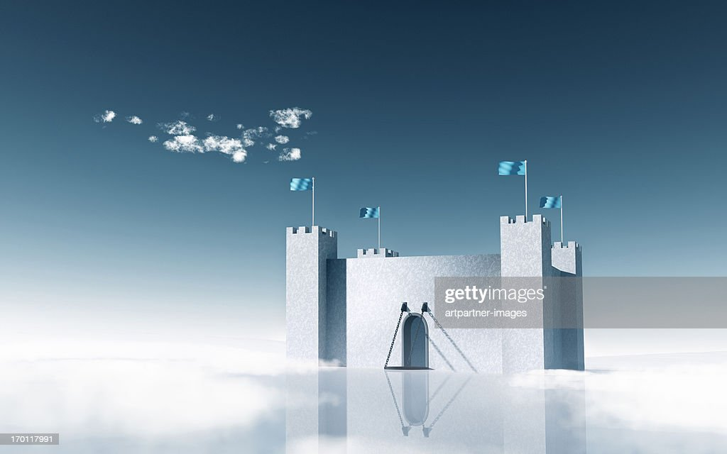 Fortress as a symbol for wealth and protection : Stock Photo