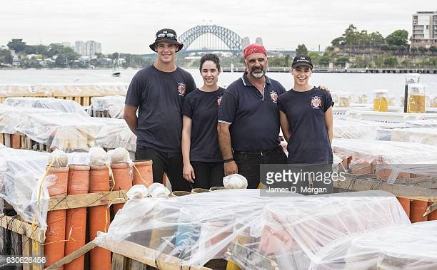 Fortunato Foti Sydney's NYE fireworks director from Foti Fireworks with his three children Salvatore Elena and Angelina on December 29 2016 in Sydney...
