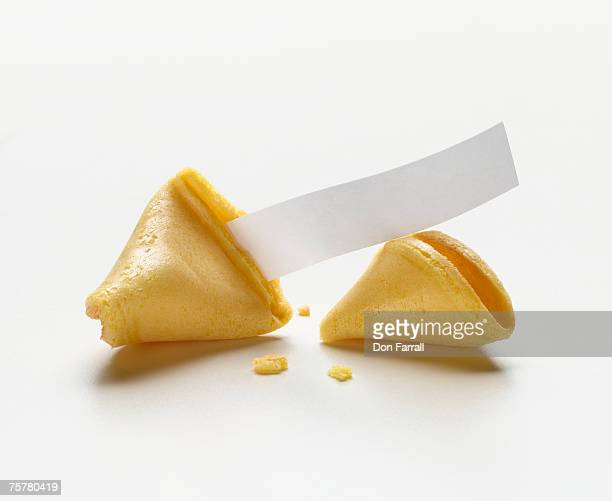 Fortune cookie with blank fortune