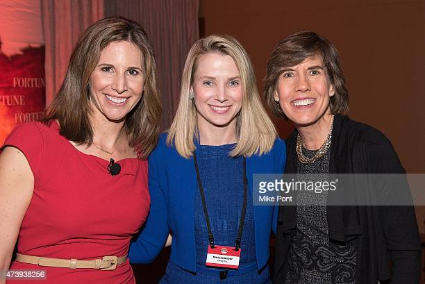 Fortune Magazine Assistant Managing Editor Leigh Gallagher President and CEO of Yahoo Marissa Mayer and Fortune senior editor at large Patricia...