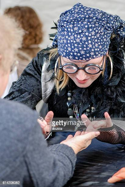 Fortune teller palm reading