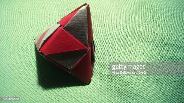 Fortune Teller Paper On Green Fabric