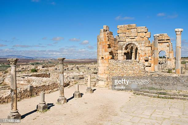Forum at Roman city of Volubilis, Morocco