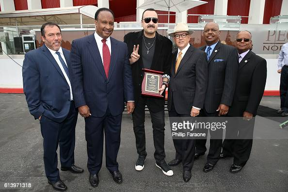 Forum General Manager Nick Spampanato Inglewood Mayor James Butts Musician Pepe Aguilar Nederlander Concerts CEO Alex Hodges and Inglwood City...