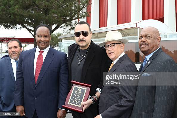 Forum General Manager Nick Spampanato Inglewood Mayor James Butts Musician Pepe Aguilar Nederlander Concerts CEO Alex Hodges and Inglewood City...