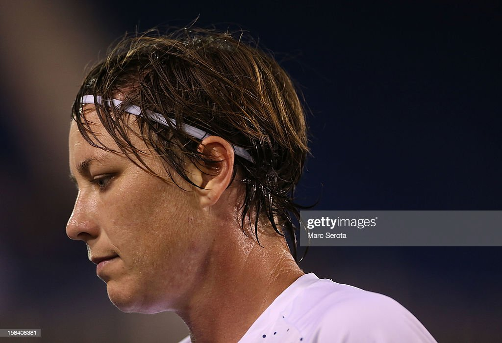 Forward <a gi-track='captionPersonalityLinkClicked' href=/galleries/search?phrase=Abby+Wambach&family=editorial&specificpeople=162757 ng-click='$event.stopPropagation()'>Abby Wambach</a> #14 of the USA plays against China at FAU Stadium on December 15, 2012 in Boca Raton, Florida. The USA defeated China 4-1.