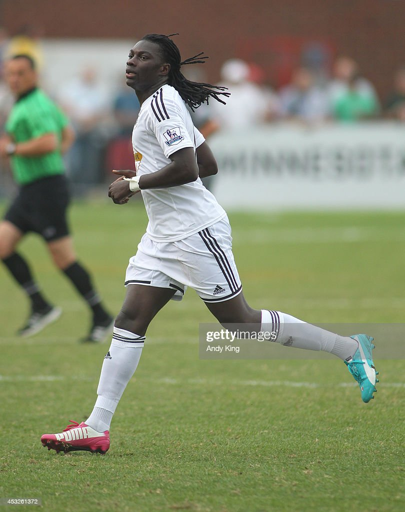 Forward Bafetibi Gomis #18 of Swansea City against Minnesota United FC on July 19, 2014 at the National Sports Center in Blaine, Minnesota. Minnesota United FC defeated Swansea City 2-0.