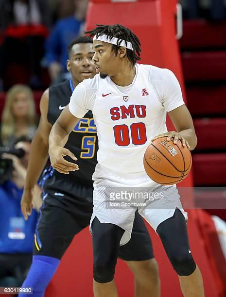 SMU forward Ben Moore looks to drive during the NCAA men's basketball game between SMU Mustangs and UC Santa Barbara Gauchos on November 22 2016 at...