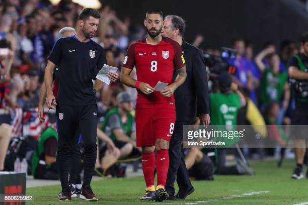 USA forward Clint Dempsey prepares to enter the game during the World Cup Qualifying soccer match between the US Mens National Team and Panama on...