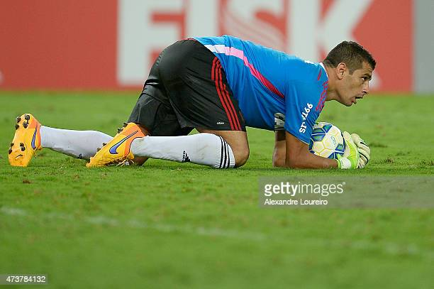 Forward Diego Souza replaces Goalkeeper Magrao of Sport Recife during the match between Flamengo and Sport Recife as part of Brasileirao Series A...