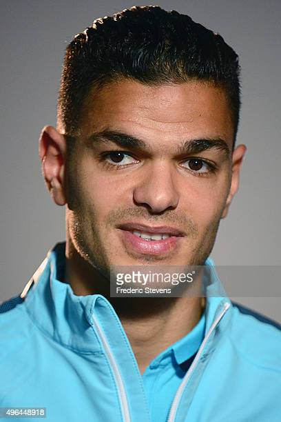 Forward Hatem Ben Arfa of France speaks to the media during a press conference five days ahead of the friendly match against Germany on November 9...