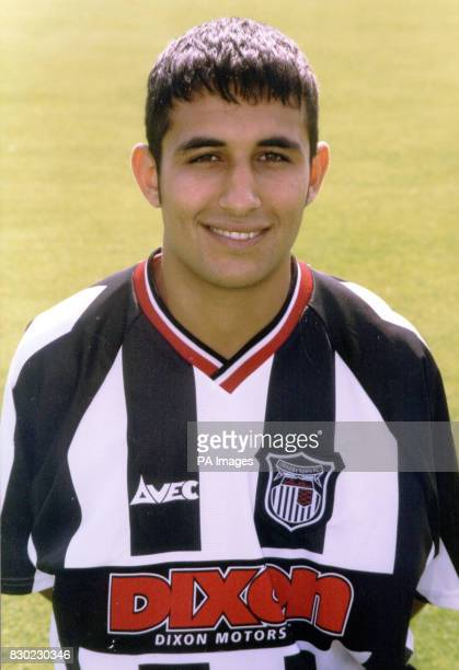 Forward Jack Lester who plays for First Division Grimsby Town FC at Blundell Park Stadium