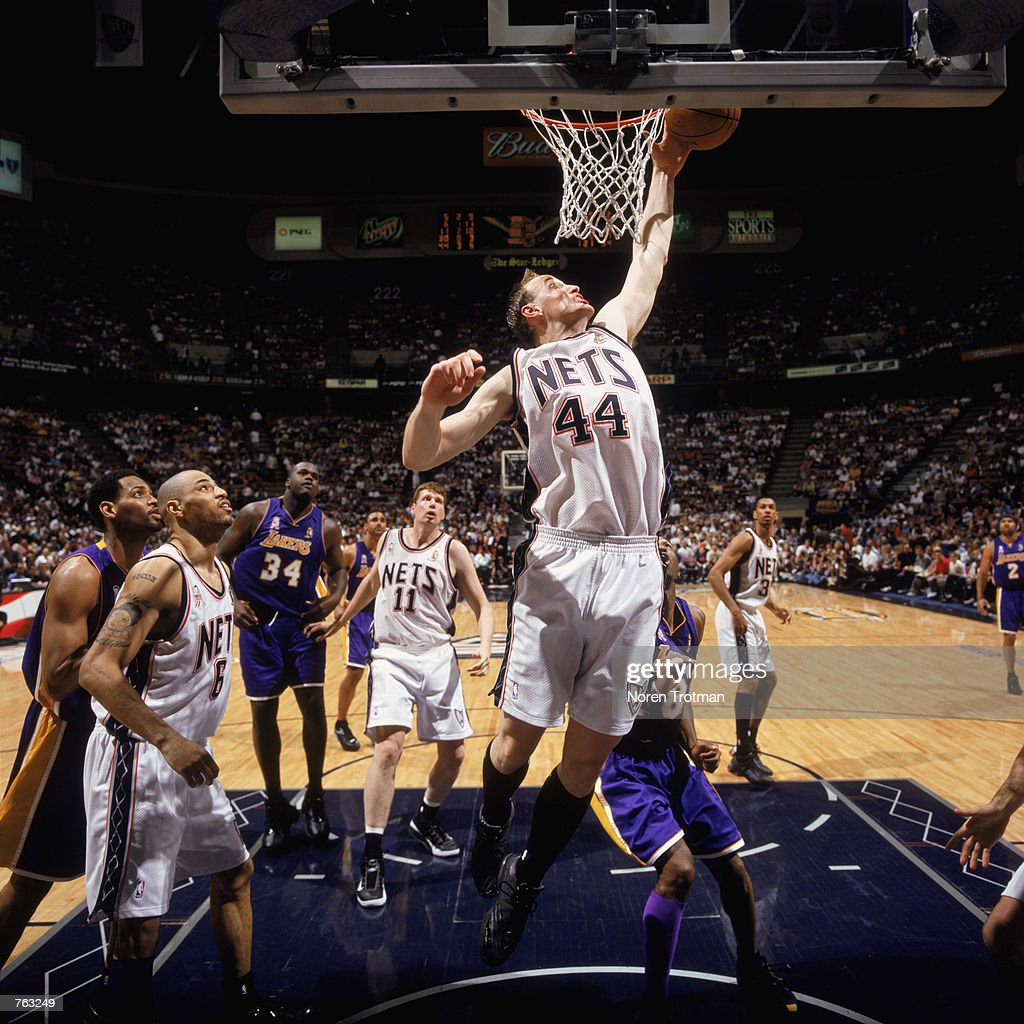 Keith Van Horn leaps for a rebound