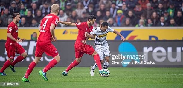 Forward Raffael of Borussia Moenchengladbach working himself through the defense line of 1FC Koeln during the 1 Bundesliga match between Borussia...