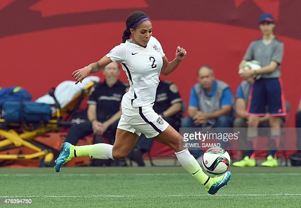 Forward Sydney Leroux of the USA controls the ball during the Group D match of the 2015 FIFA Women's World Cup between the USA and Australia at the...