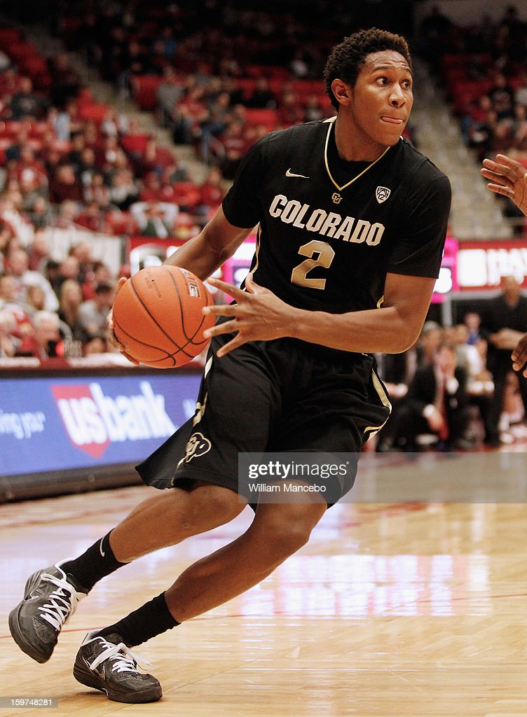 Forward Xavier Johnson #2 of the Colorado Buffaloes drives the ball during the second half of the game against the Washington State Cougars at Beasley Coliseum on January 19, 2013 in Pullman, Washington.