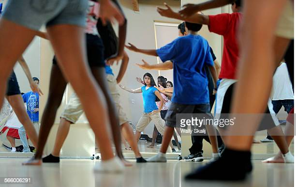 Foster care children learn Tai chi class during the Bruin Academy at UCLA