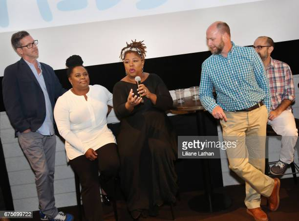 Foster parents Bryant Huddleston Camille Thornton Cleo King Brandon Crosby and Andy Alexander attend the reveal of the RaiseAChild's 'Reimagine...