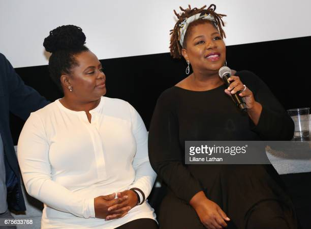 Foster parents Camille Thornton and Cleo King attend the reveal of the RaiseAChild's 'Reimagine Foster parents' campaign at NeueHouse Hollywood on...