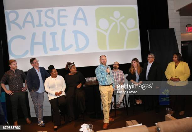 Foster parents Mark Daley Bryant Huddleston Camille Thornton Cleo King Brandon Crosby And Alexander Dana Valenzuela and Jesse Marez attend the reveal...