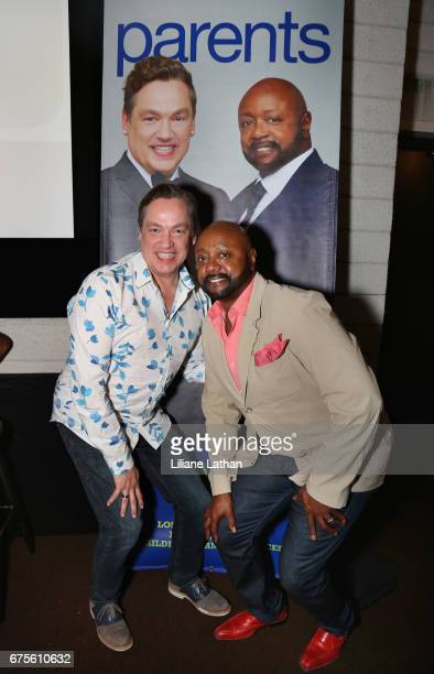Foster parents Ross Smith and Aaron Knight attend the reveal of the RaiseAChild's 'Reimagine Foster Parents' campaign at NeueHouse Hollywood on May...