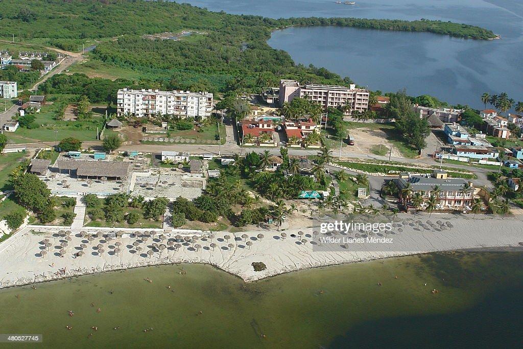 Fotos aereas de la ciudad de Caibarién, provincia : Stockfoto