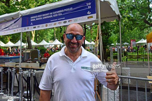 Fouad Alsharif owner of meat supplier Salumeria Biellese The annual Madison Square BBQ festival brought smoked specialists from all over the New York...