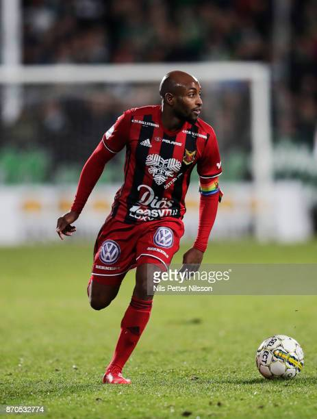Fouad Bachirou of Ostersunds FK during the Allsvenskan match between Jonkopings Sodra IF and Ostersunds FK at Stadsparksvallen on November 5 2017 in...