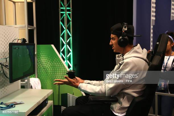 Fouad 'Rafsou' Fares of France in action in his game against Javier 'Janoz' Munoz of Columbia during day one of the FIFA Interactive World Cup 2017...