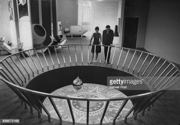 Foucault Pendulum which proves the earth rotates is located in the rotunda of the Charles C Gates Planetarium in City Park The original was built in...