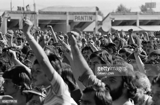 Foule à la Fête de l'Humanité à La Courneuve France le 9 septembre 1978
