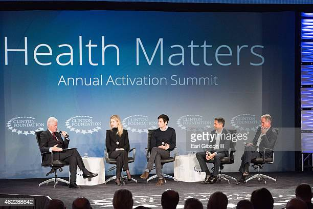 Foundation and 42nd President Bill Clinton serves as moderator for the Opening PlenaryHealth Innovation session along with Elizabeth Holmes Josh...