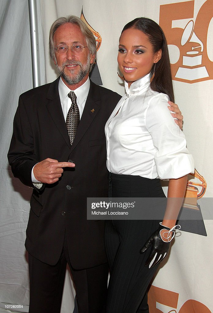 Foundation and Recording Academy President Neil Portnow and musician Alicia Keys attend the Recording Academy New York Chapter's Tribute to Bon Jovi...