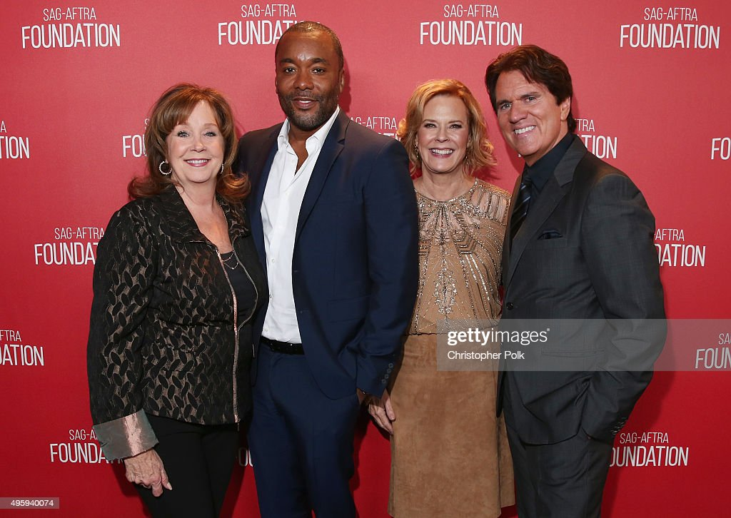 SAG Foundation Executive Director Cyd Wilson honoree Lee Daniels SAG Foundation President JoBeth Williams and honoree Rob Marshall attend the Screen...