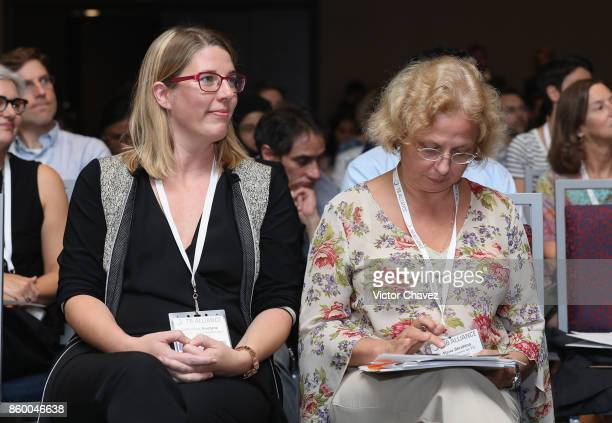 Foundation for Innovative New Diagnostics Dr Catharina Boehme and Science director research centre for TB Minsk Belarus Dr Alena Skrahina attend the...