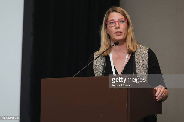 Foundation for Innovative New Diagnostics Dr Catharina Boehme speaks during the TB Alliance Stakeholders Association Annual Meeting at the Union...