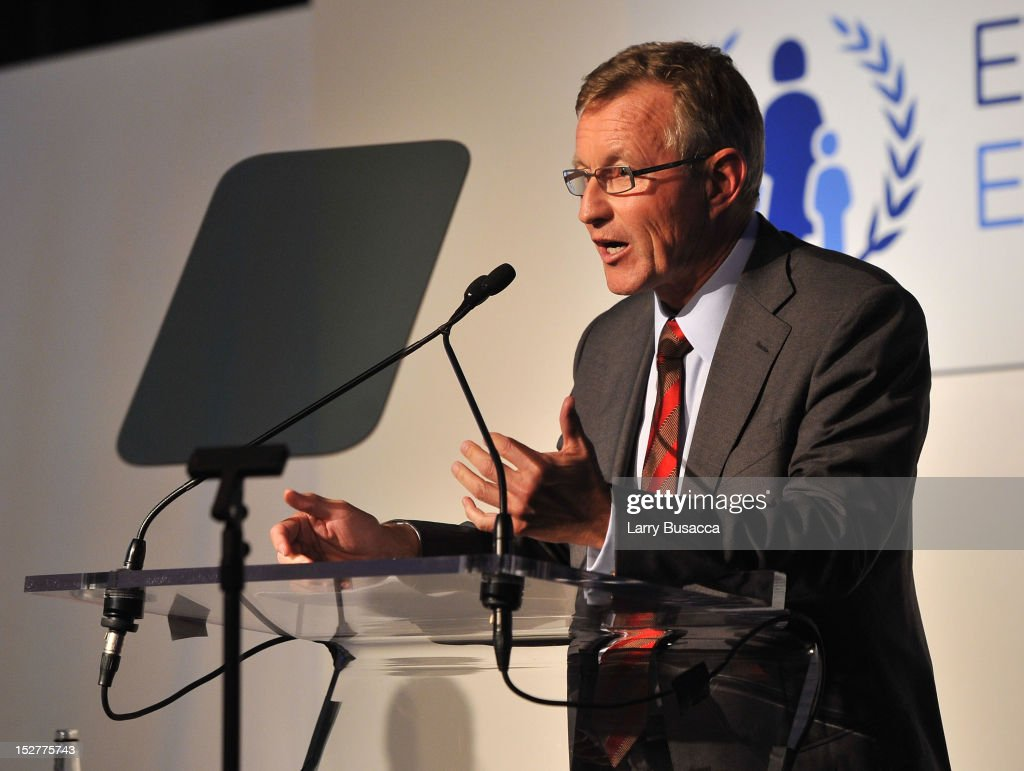 Foundation Per Heggenes speaks onstage at the United Nations Every Woman Every Child Dinner 2012 on September 25, 2012 in New York, United States.