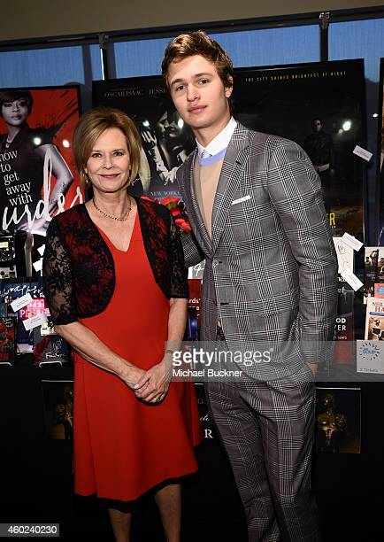 Foundation President JoBeth Williams and actor Ansel Elgort attend TNT's 21st Annual Screen Actors Guild Awards Nominations Announcement at the...
