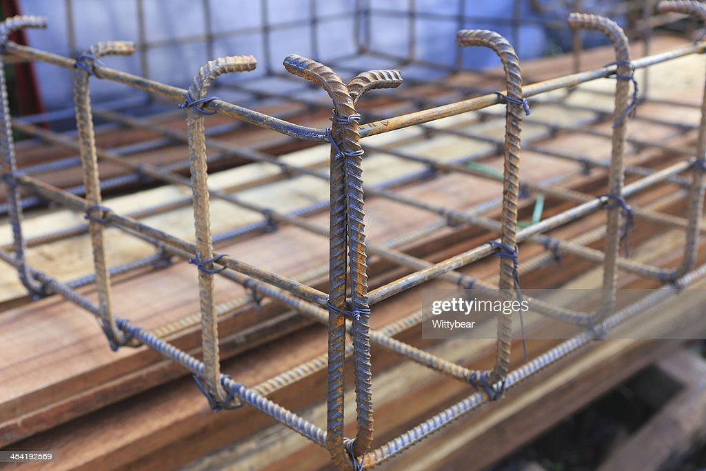 foundation steel rod for home building : Stock Photo